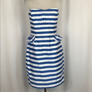 Lilly Pulitzer Striped Strapless Dress Size 4